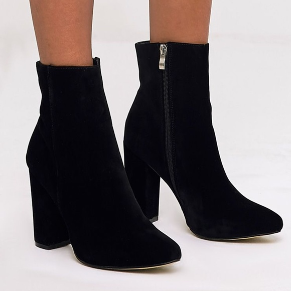 9aba6ac2ccf3 PLT Behati Black Faux Suede Ankle Boots. M 5b7ab87b03087cc2031be08b